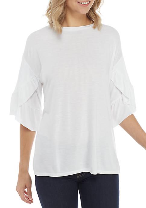 Kaari Blue™ Short Ruffle Sleeve Tee