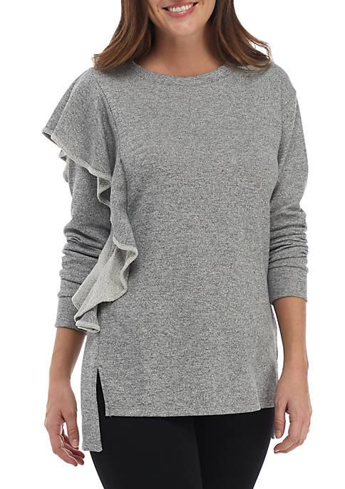 Kaari Blue™ Asymmetrical Ruffle Armhole Pullover