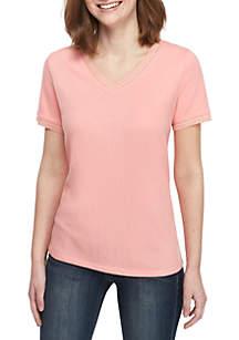 2da9bf6ddd89e ... Kaari Blue™ V Neck T Shirt with Trim