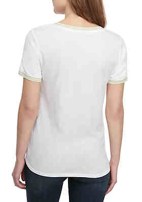 2e5769cbf719f5 ... Kaari Blue™ V Neck T Shirt with Trim