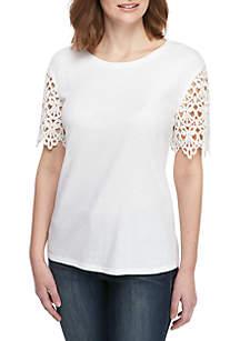Kaari Blue™ Lace Sleeve T Shirt