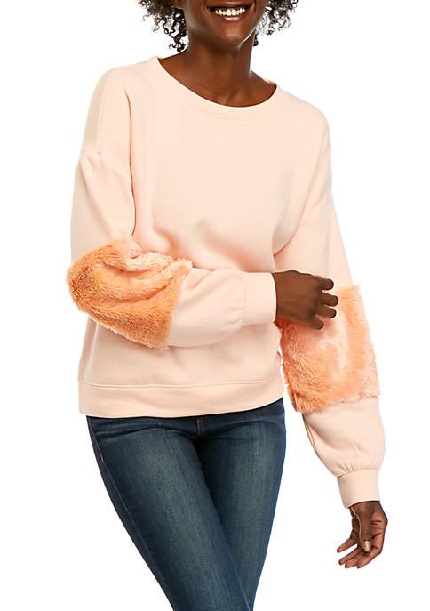 Pieced Sleeve Sweatshirt