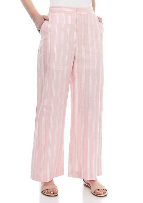 Kaari Blue™ Stripe Wide Leg Linen Pants
