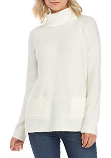 Cowl Neck Sweater with Pockets