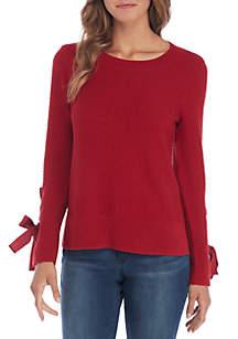 Mix Stitch Crew Neck Sweater