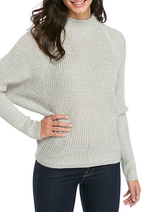 Kaari Blue™ Womens Tall Cuff Dolman Sleeve Sweater