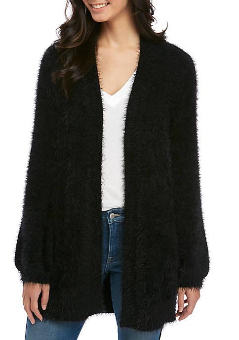 Kaari Blue™ Womens Fuzzy Cardigan