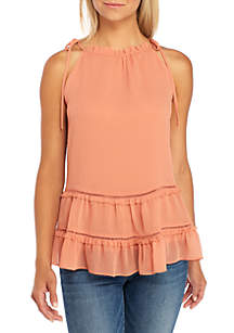 Sleeveless Tiered Peasant Top