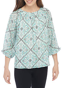 Woven Printed Top