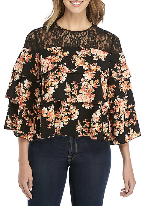 Long Sleeve Tiered Top