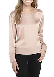Long Sleeve Silk Sweatshirt