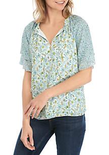 Kaari Blue™ Short Sleeve Floral Top