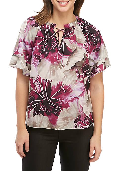 Short Sleeve Floral Top