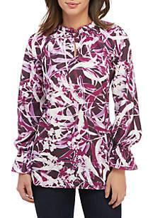 Kaari Blue™ Long Sleeve Ruffle Tunic Top