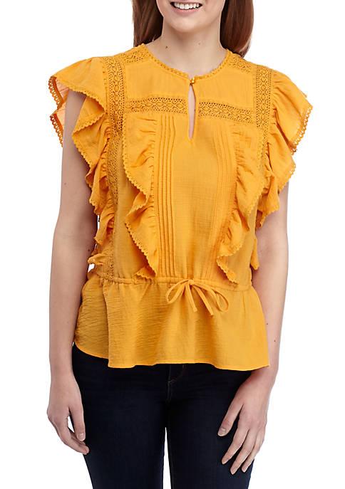 Kaari Blue™ Flutter Sleeve Lace Top