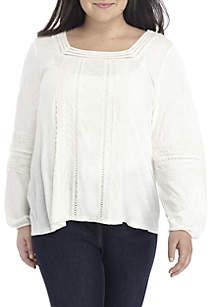 Plus Size Square Neck Sweatshirt
