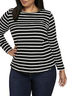 Kaari Blue™ Plus Size Stripe Shirt