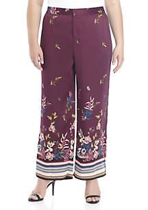 Plus Size Floral Soft Pants