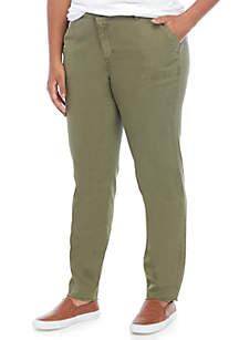 Plus Size Utility Pants