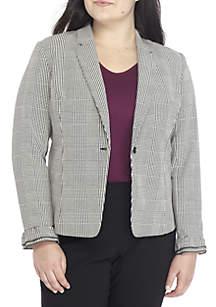 Plus Size Ruffle Sleeve Blazer