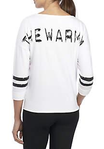 Branded Cropped Sweatshirt