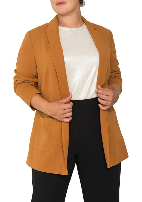 Standards and Practices Plus Size Dorothy Boyfriend Jacket