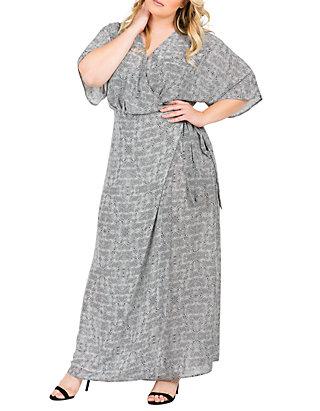 a36c0983f5e Standards and Practices Plus Size Olivia Kimono Sleeve Maxi Dress ...