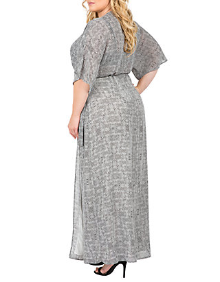 Standards and Practices Plus Size Olivia Kimono Sleeve Maxi Dress | belk