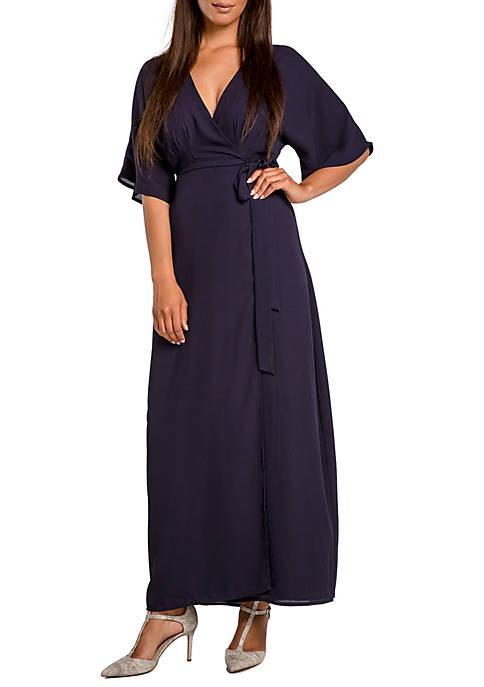 Womens Olivia Kimono Sleeve Maxi Dress