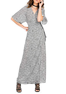 Standards and Practices Olivia Kimono Sleeve Maxi Dress