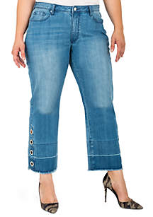 Standards and Practices Plus Size Meryl Cropped Mom Jeans