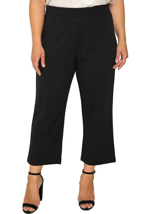 Plus Size Mona High Waist Stretch Crepe Pants