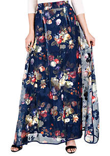 Standards and Practices Iris Floral Mesh Full Skirt