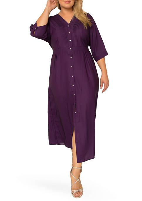 Plus Size Karla Pintuck Maxi Dress