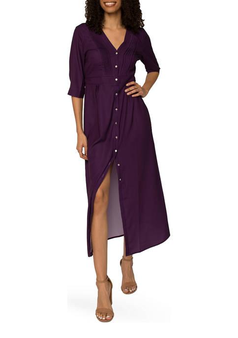 Womens Karla Pintuck Maxi Dress