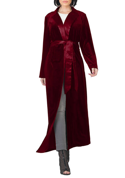 Standards and Practices Womens Freya Stretch Velvet Wrap