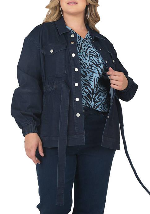Plus Size Mimi Denim Utility Anorak Jacket