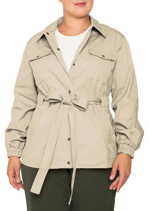 Plus Size Mimi Denim Twill Utility Jacket