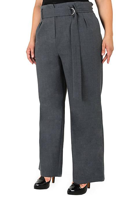 Plus Size Francesca D-ring Belted Pants