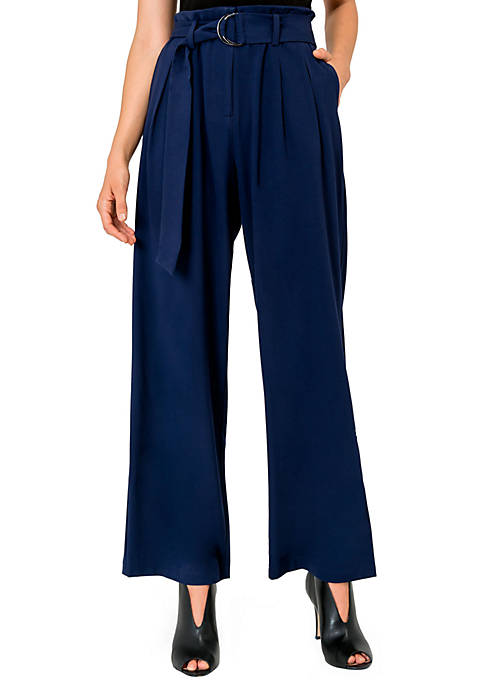 Standards and Practices Francesca D-Ring Belted Pants
