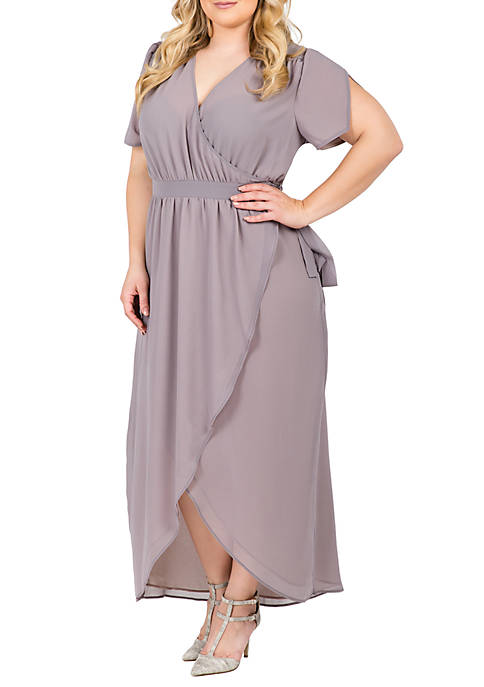 Standards and Practices Plus Size Robin Wrap Maxi