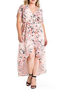 10cb11761ba ... Standards and Practices Plus Size Robin Wrap Maxi Dress