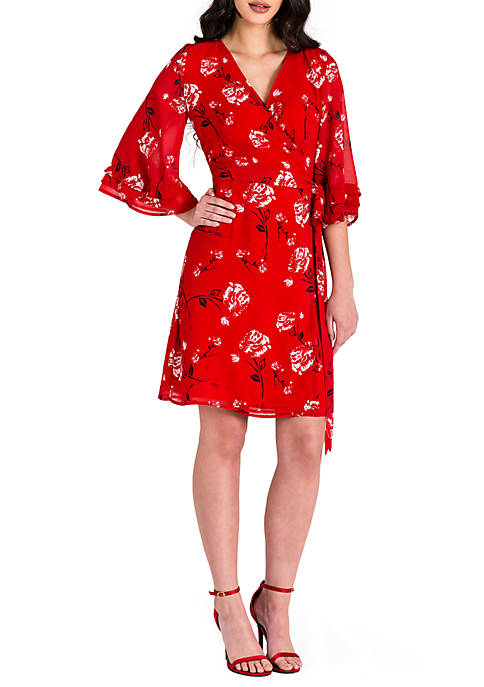 Standards and Practices Lulu Bell Sleeve Wrap Dress