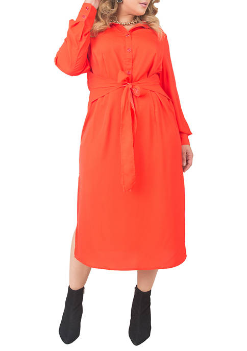 Plus Size Knot from Shirt Dress
