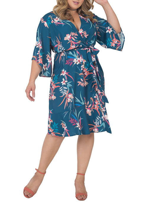 Standards and Practices Plus Size Short Sleeve Ruffle