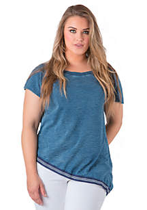 Plus Size Indigo Jersey Knit Top