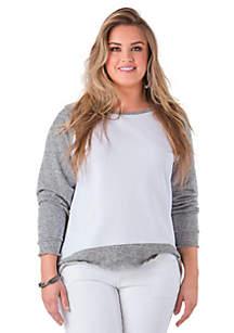 Plus Size Nessa Raglan Sleeve Sweatshirt