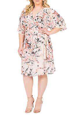 208f05a234bd8f Standards and Practices Plus Size Candice Wrap Knee Dress ...