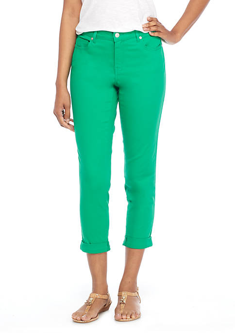 Crown & Ivy™ Solid Stretch Denim Crop Pants