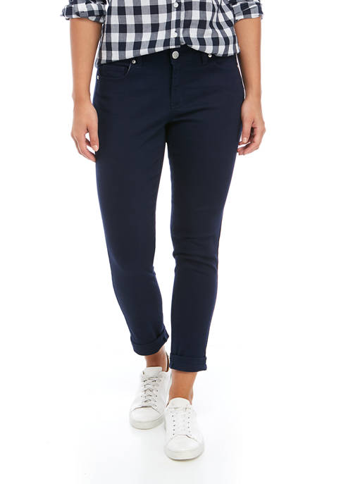 Crown & Ivy™ Solid Stretch Denim Crop Pants